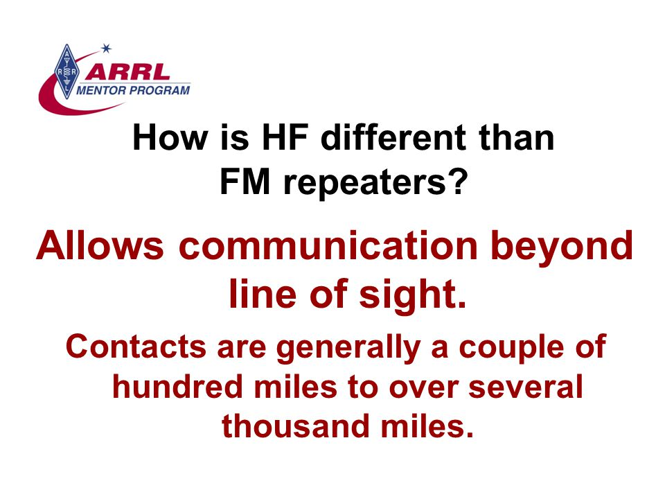How is HF different than FM repeaters