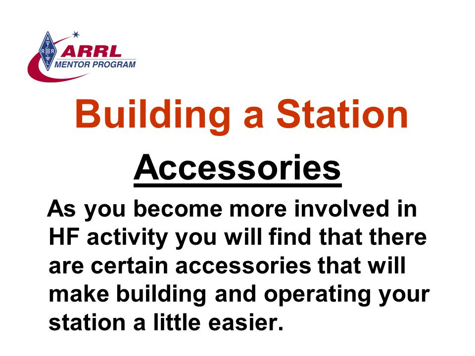 Building a Station Accessories