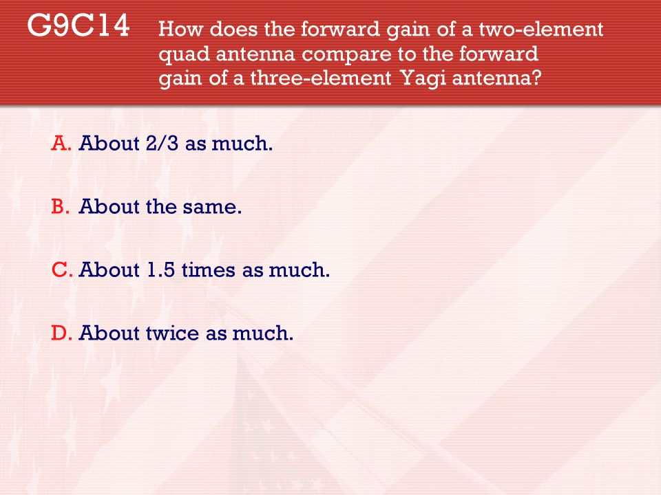 G9C14. How does the forward gain of a two-element