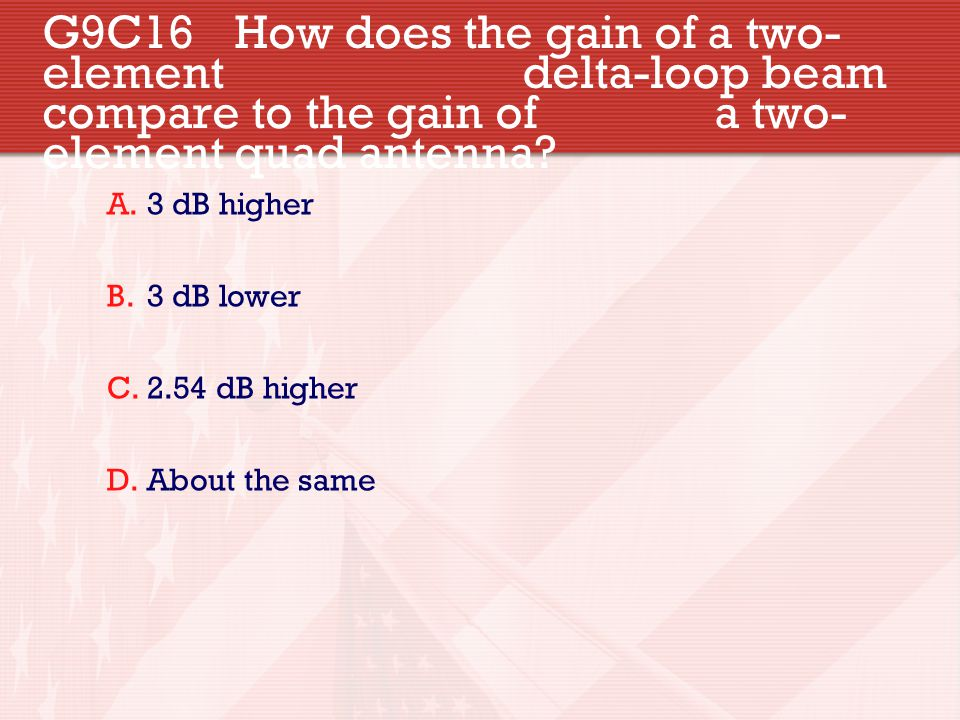 G9C16. How does the gain of a two- element