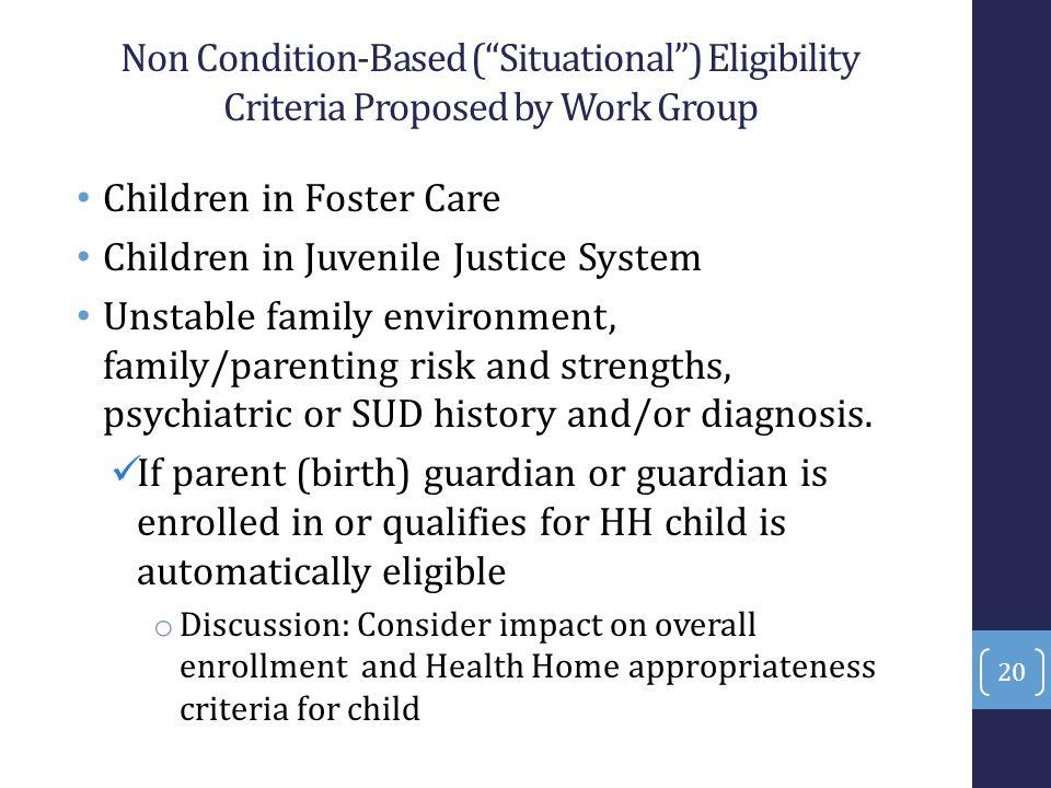 Children in Foster Care Children in Juvenile Justice System