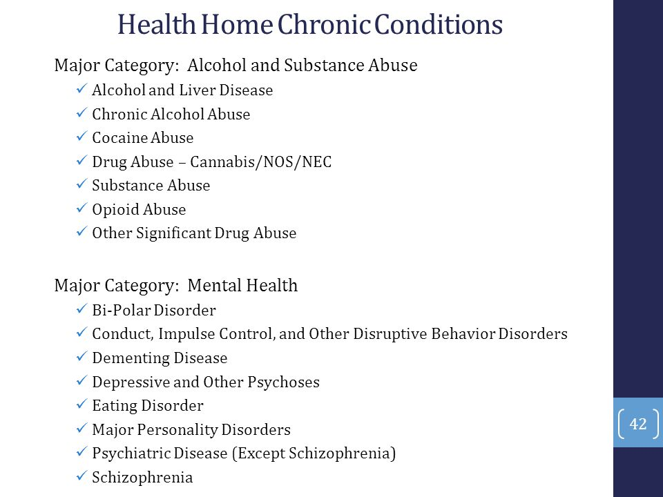 Health Home Chronic Conditions