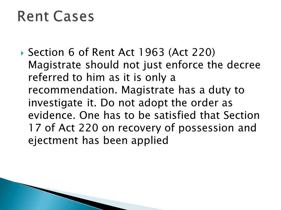 Rent Cases