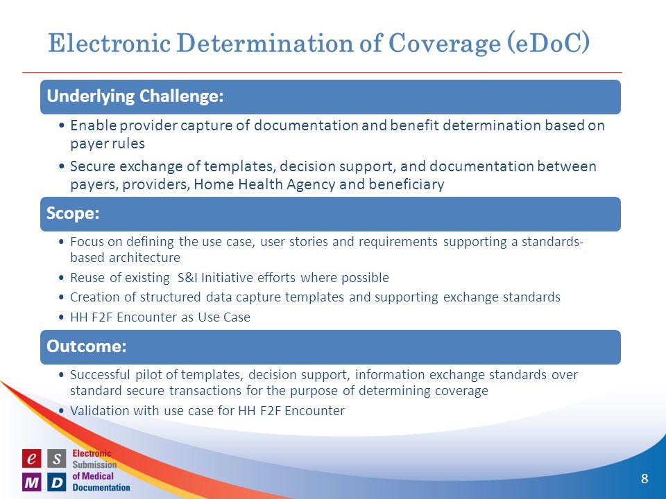 Electronic Determination of Coverage (eDoC)