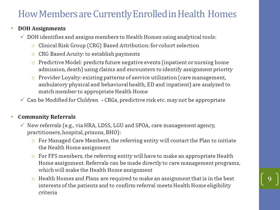 How Members are Currently Enrolled in Health Homes