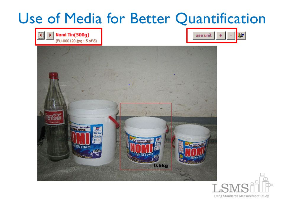 Use of Media for Better Quantification
