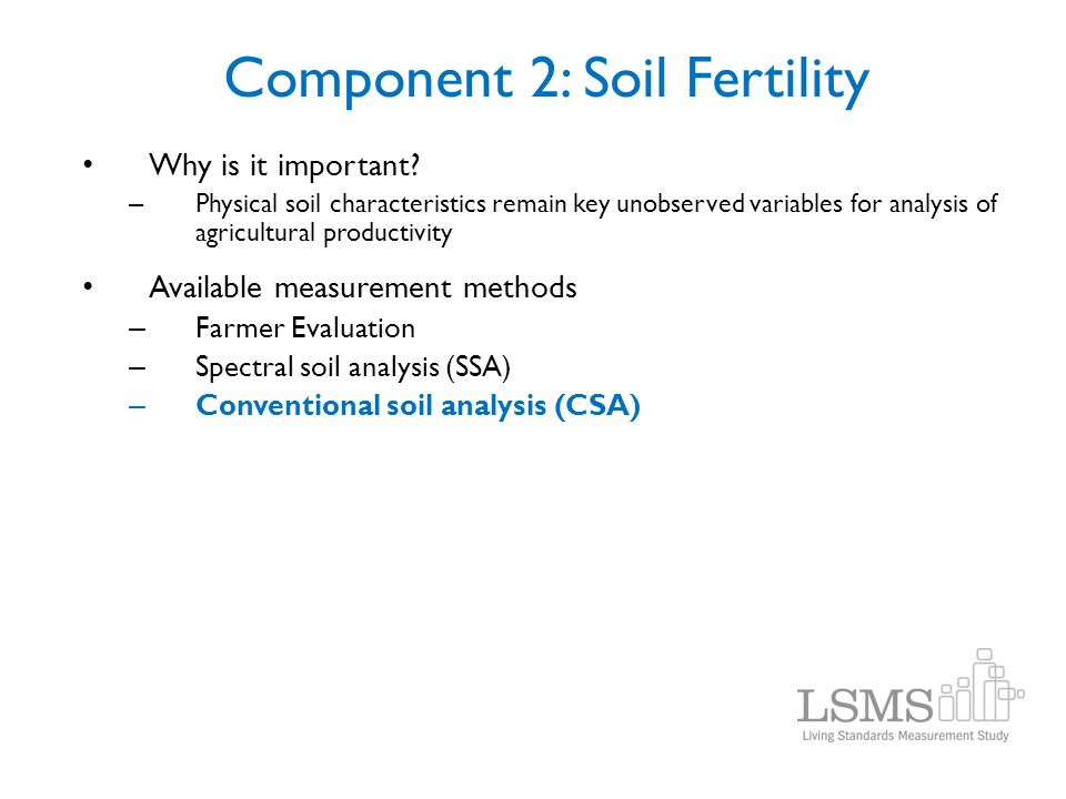 Component 2: Soil Fertility