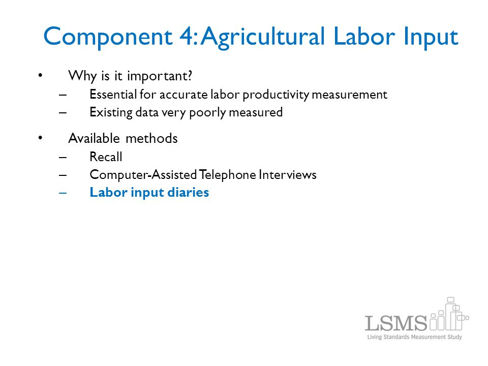 Component 4: Agricultural Labor Input