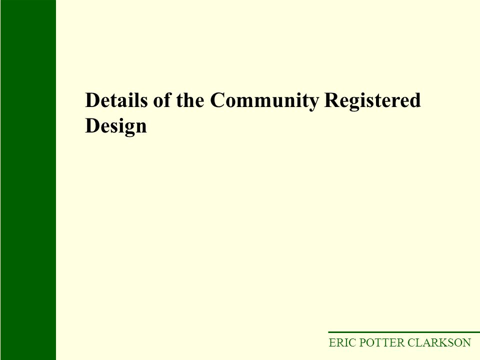 Details of the Community Registered Design
