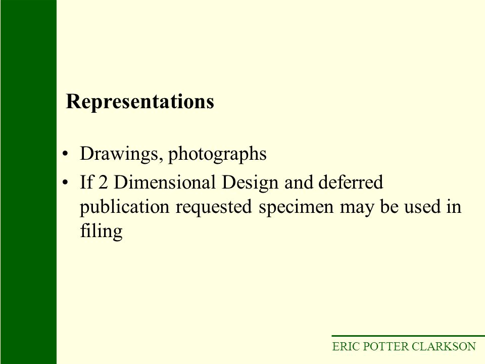 Representations Drawings, photographs