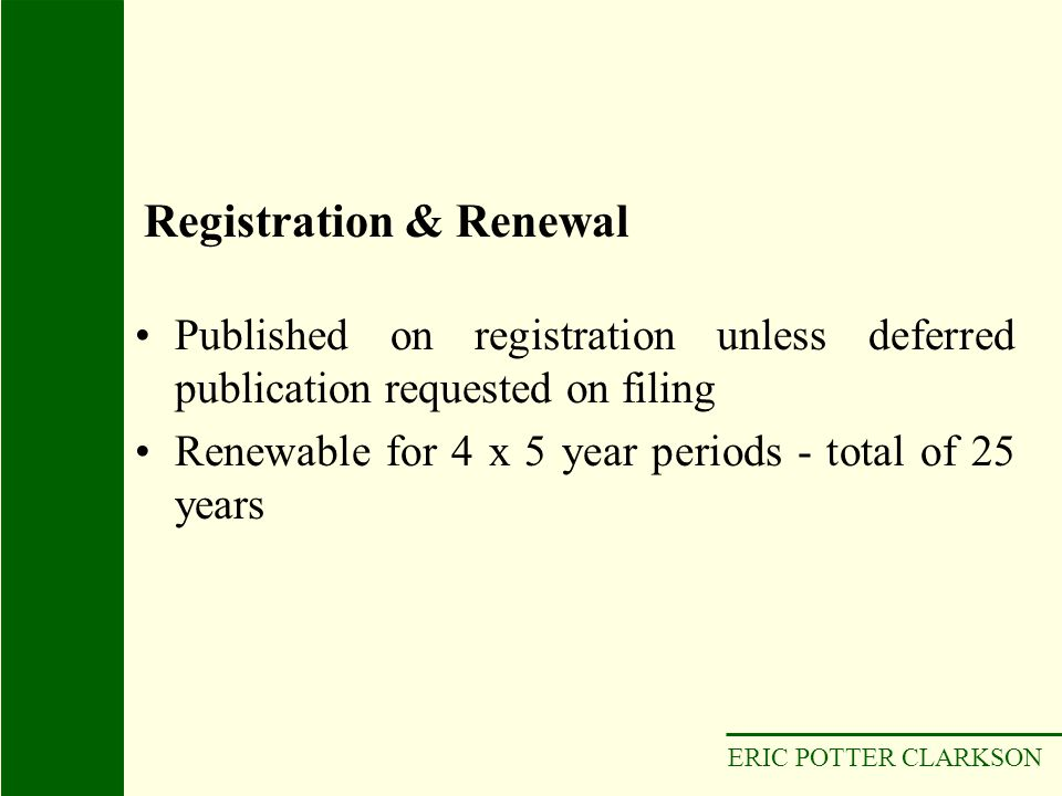 Registration & Renewal