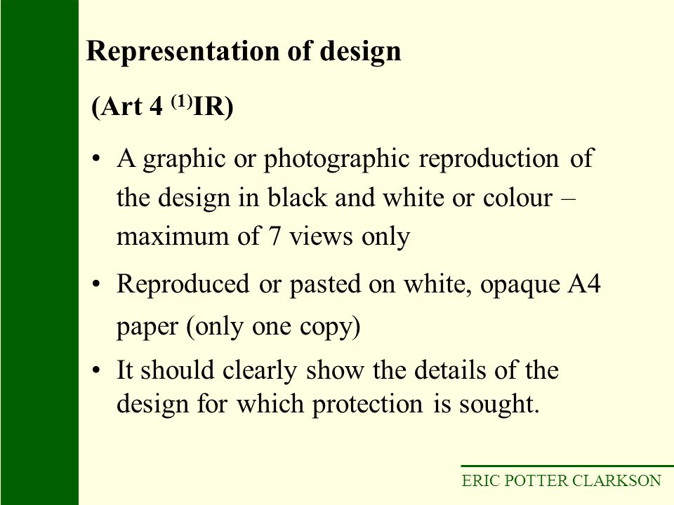 Representation of design