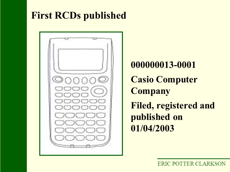 First RCDs published 000000013-0001 Casio Computer Company