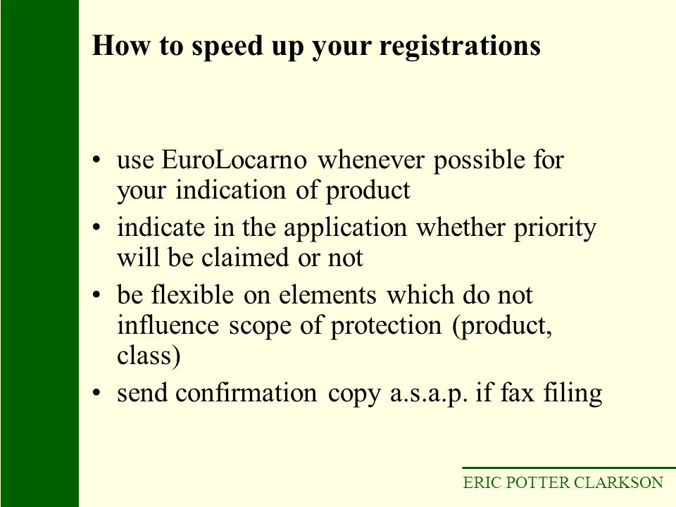 How to speed up your registrations