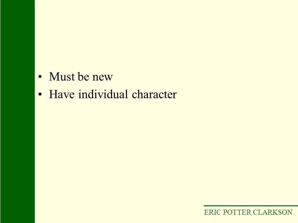 Have individual character