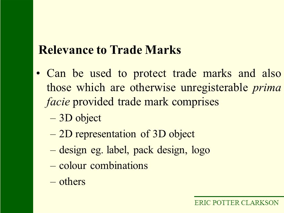 Relevance to Trade Marks