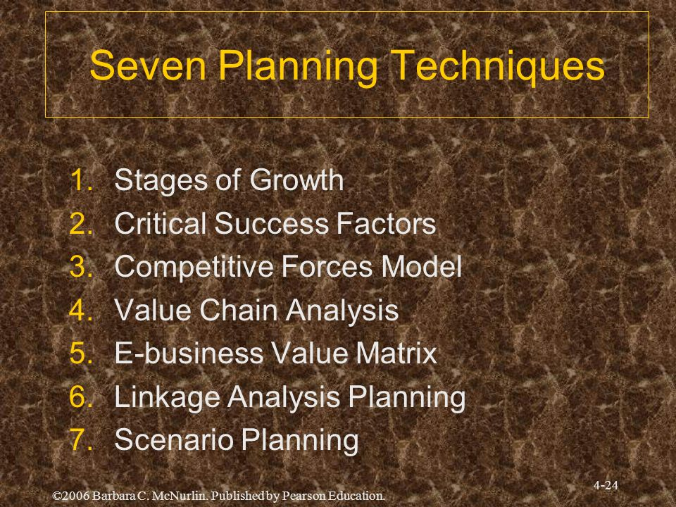 Seven Planning Techniques