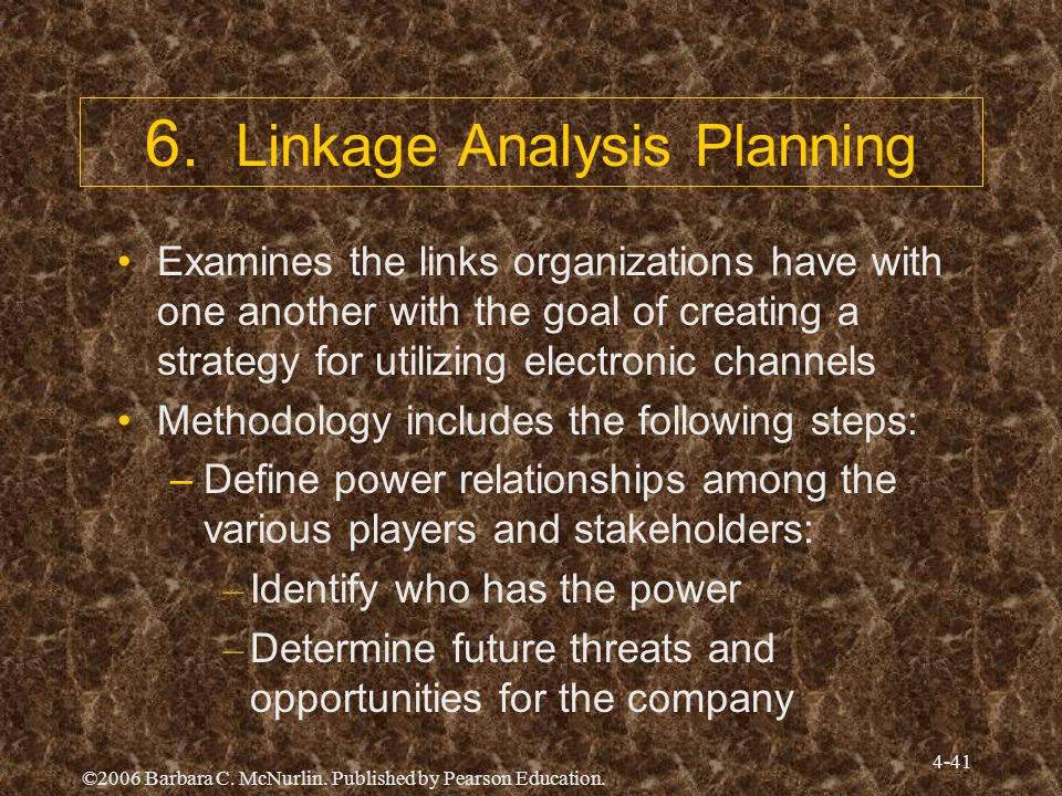 6. Linkage Analysis Planning