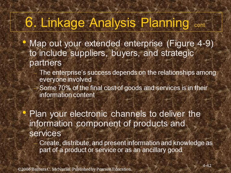 6. Linkage Analysis Planning cont.