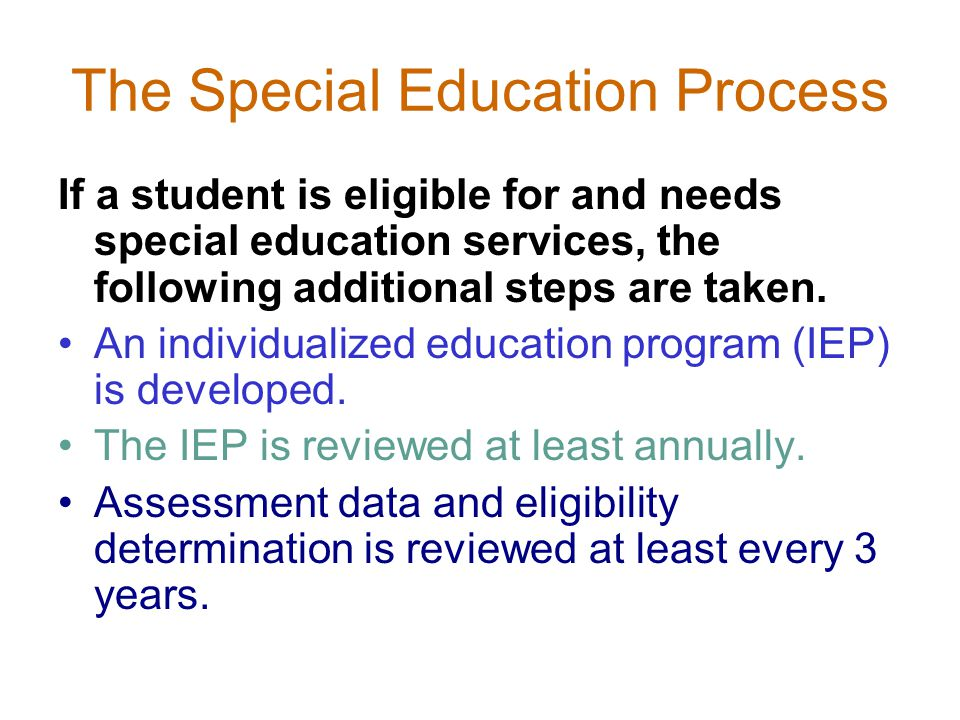 The Special Education Process