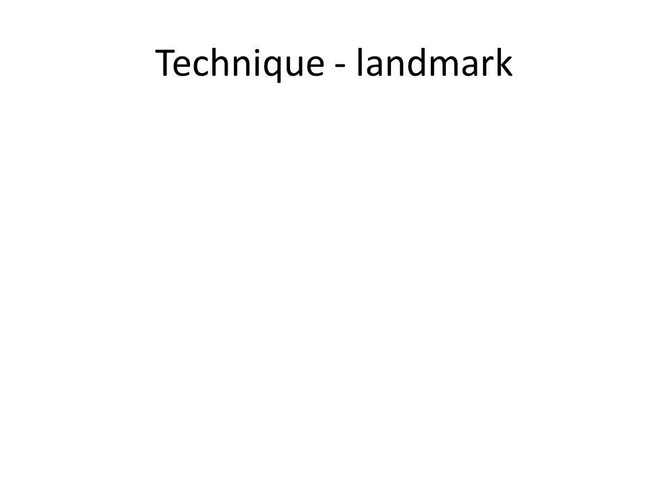 Technique - landmark