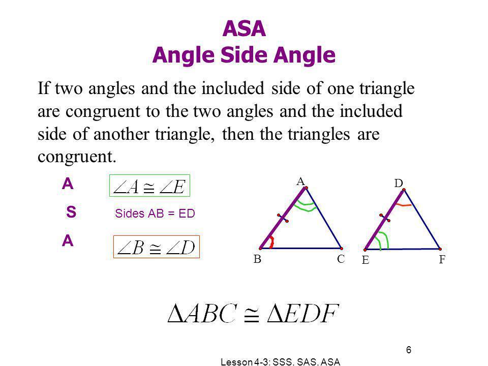 ASA Angle Side Angle