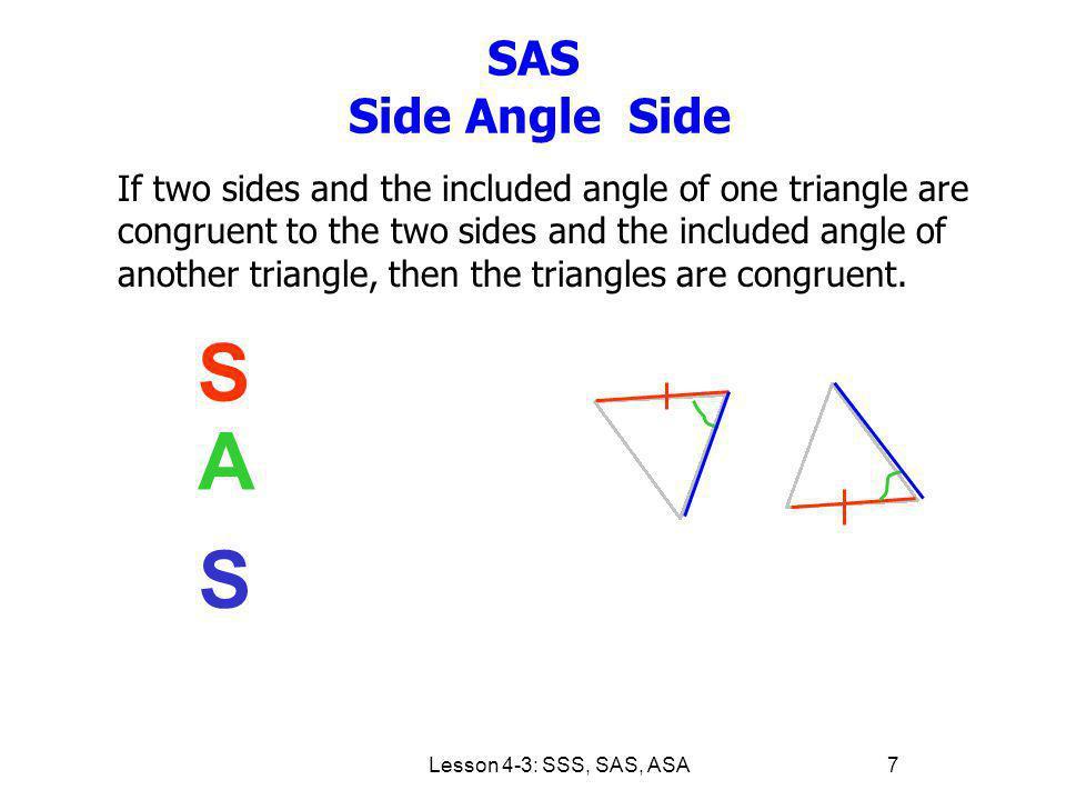 SAS Side Angle Side