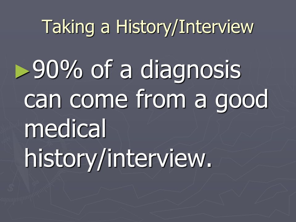 Taking a History/Interview