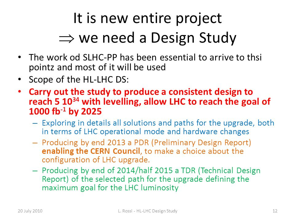 It is new entire project  we need a Design Study