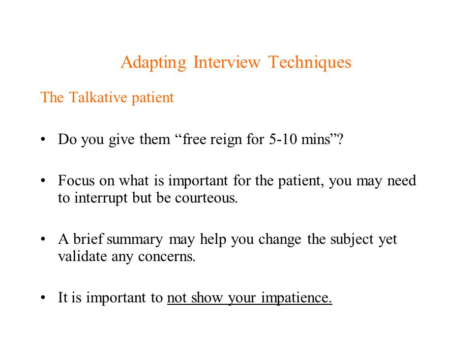 Adapting Interview Techniques