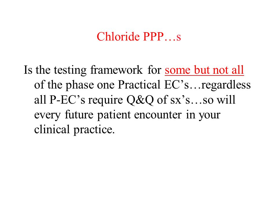 Chloride PPP…s