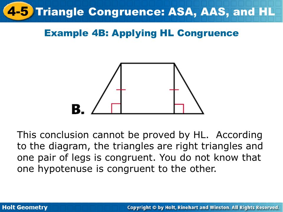 Example 4B: Applying HL Congruence