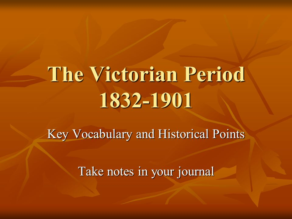 Key Vocabulary and Historical Points Take notes in your journal