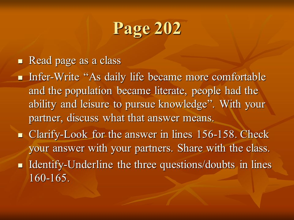 Page 202 Read page as a class