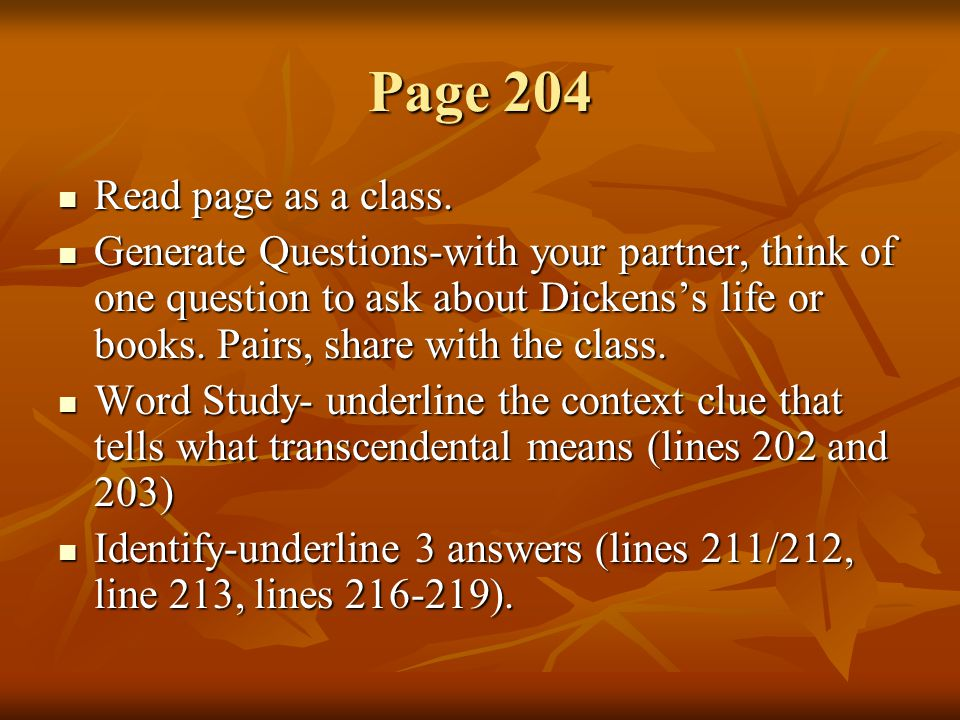 Page 204 Read page as a class.