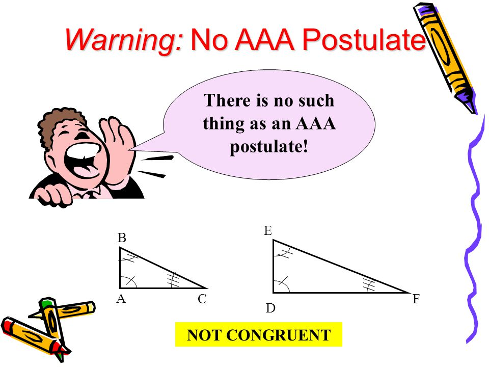 There is no such thing as an AAA postulate!