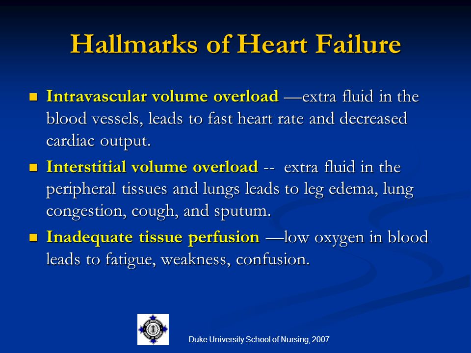 Hallmarks of Heart Failure