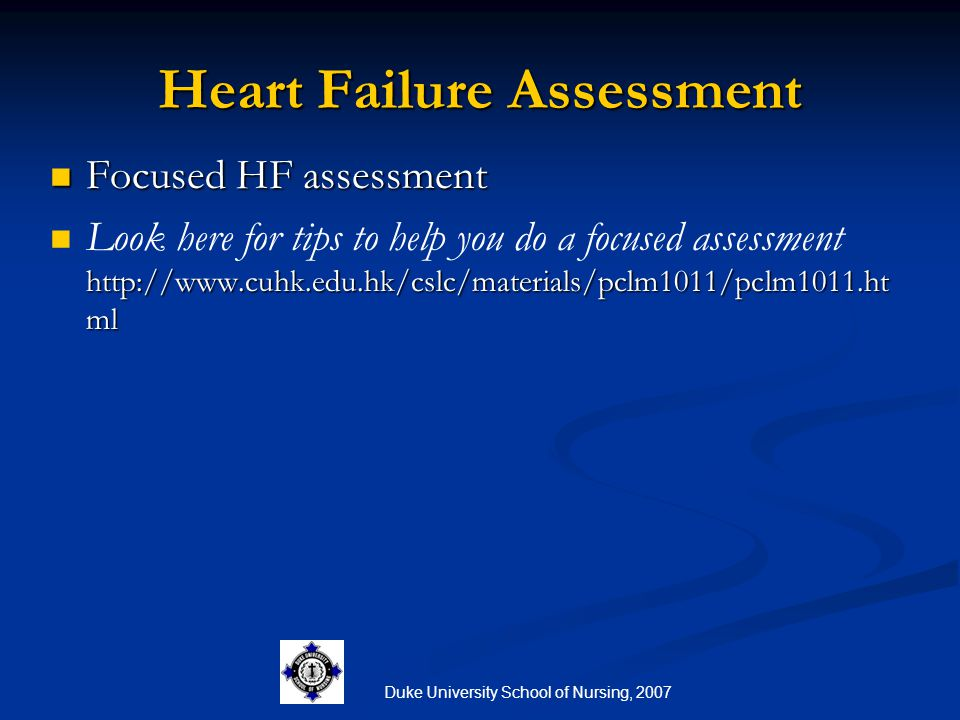 Heart Failure Assessment