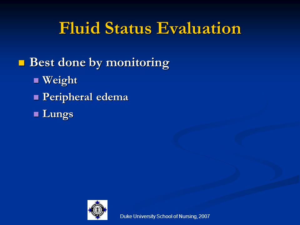 Fluid Status Evaluation