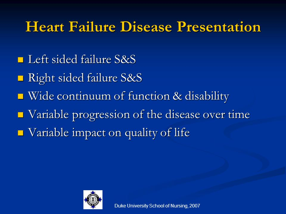 Heart Failure Disease Presentation