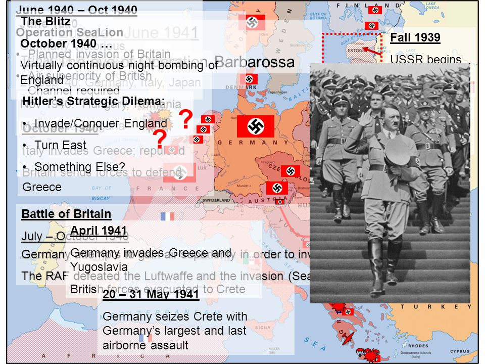 Europe: June 1941 The eve of Operation Barbarossa