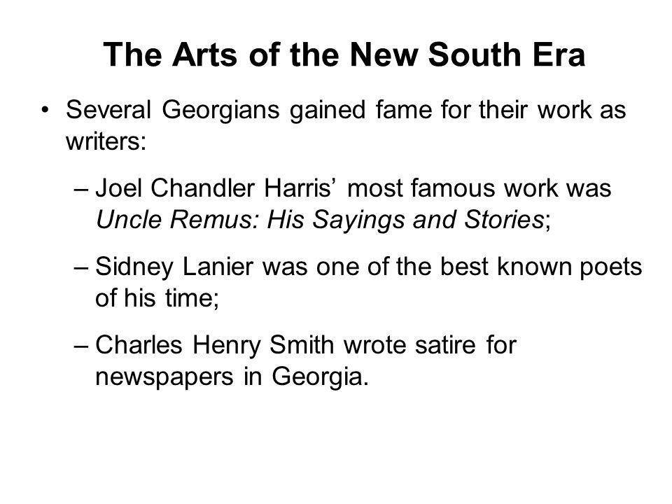 The Arts of the New South Era