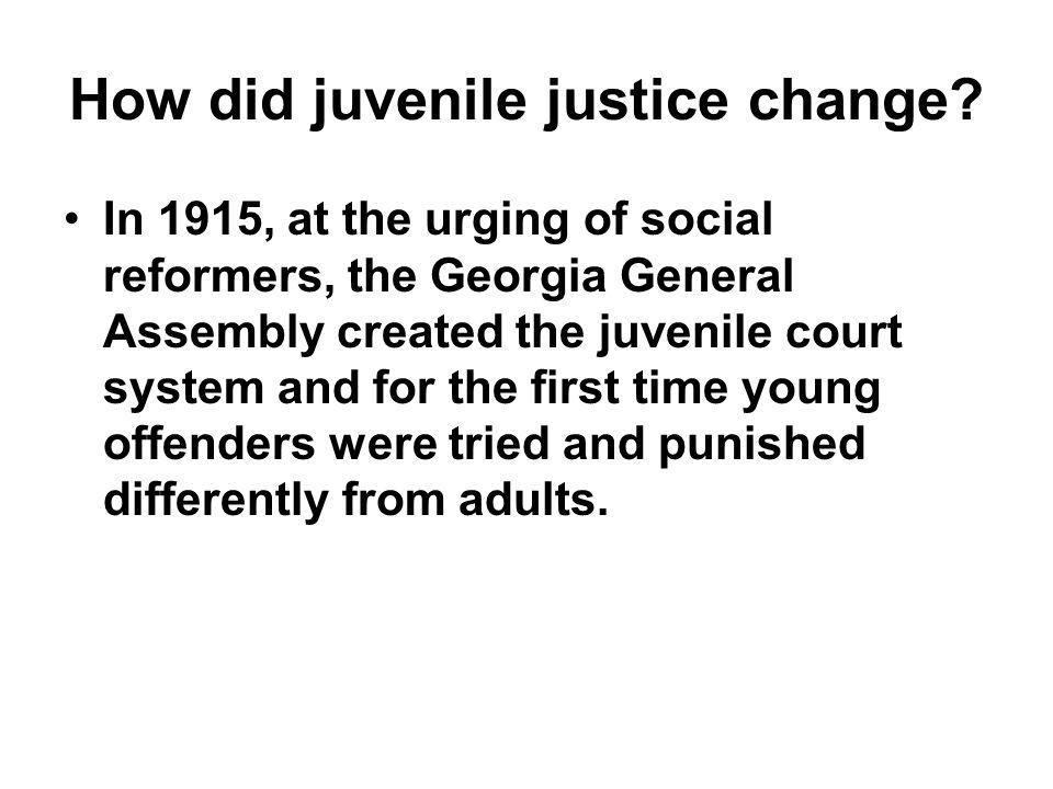 How did juvenile justice change