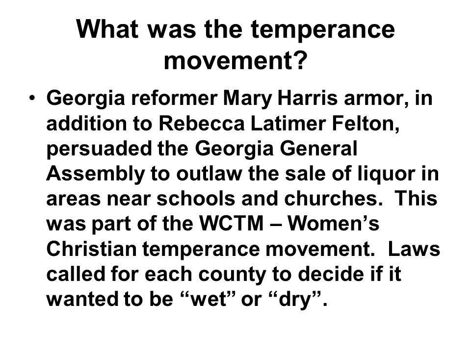 What was the temperance movement