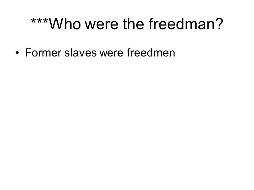 ***Who were the freedman