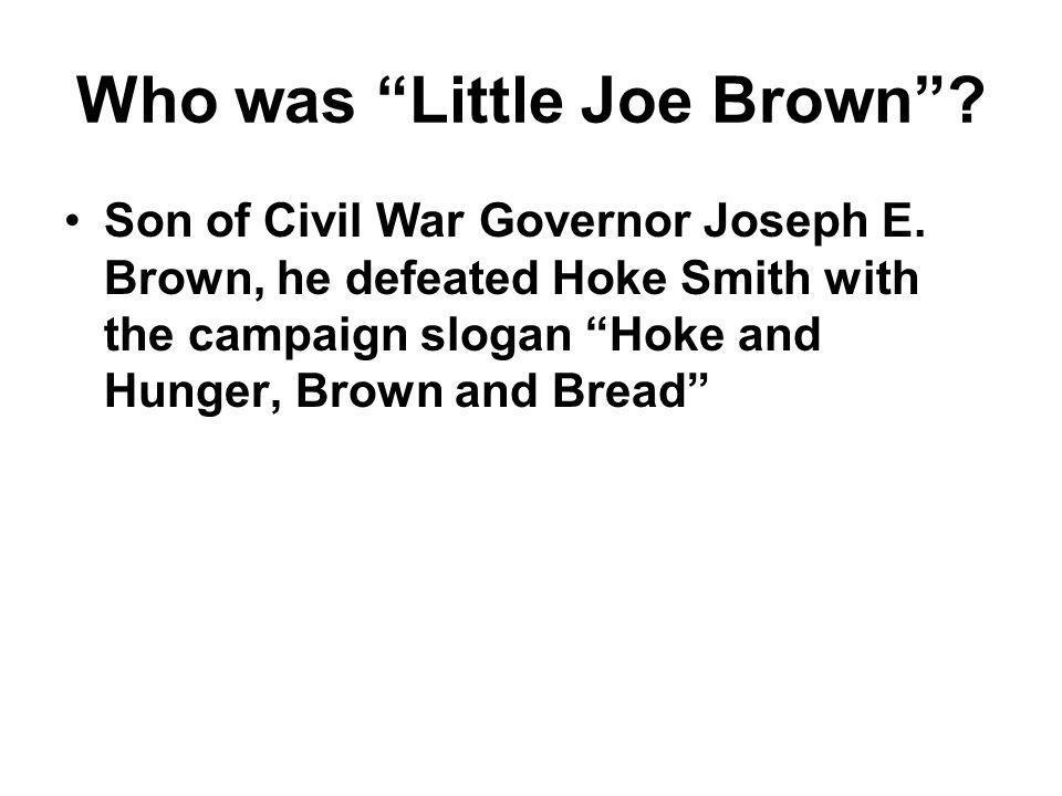 Who was Little Joe Brown