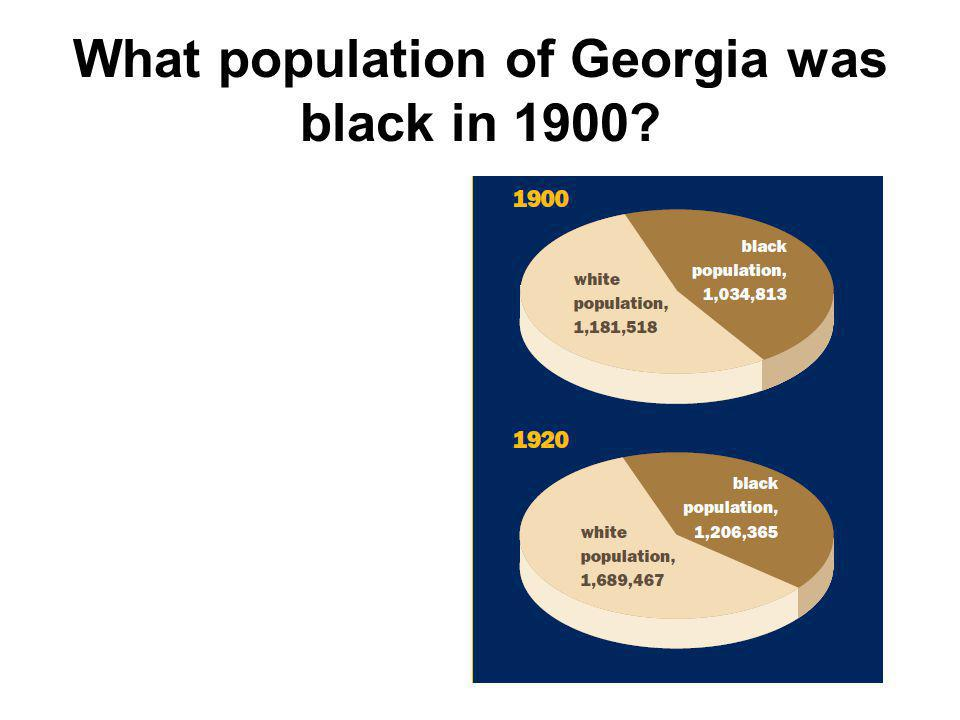 What population of Georgia was black in 1900
