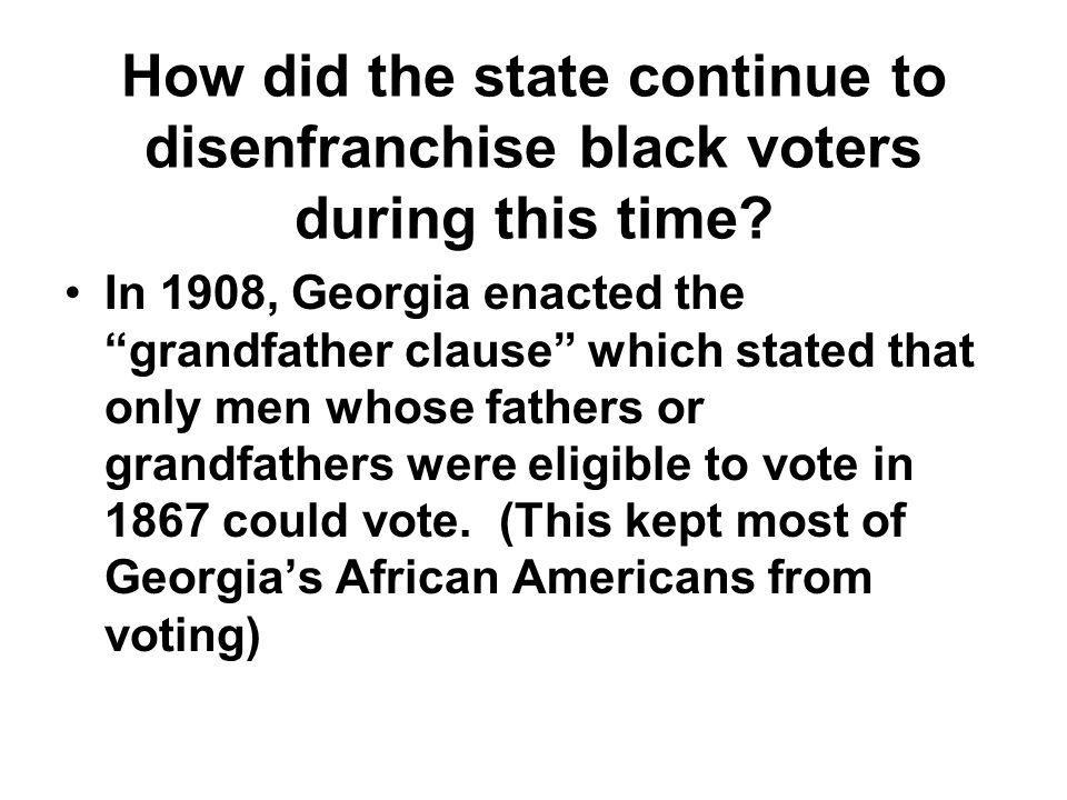 How did the state continue to disenfranchise black voters during this time
