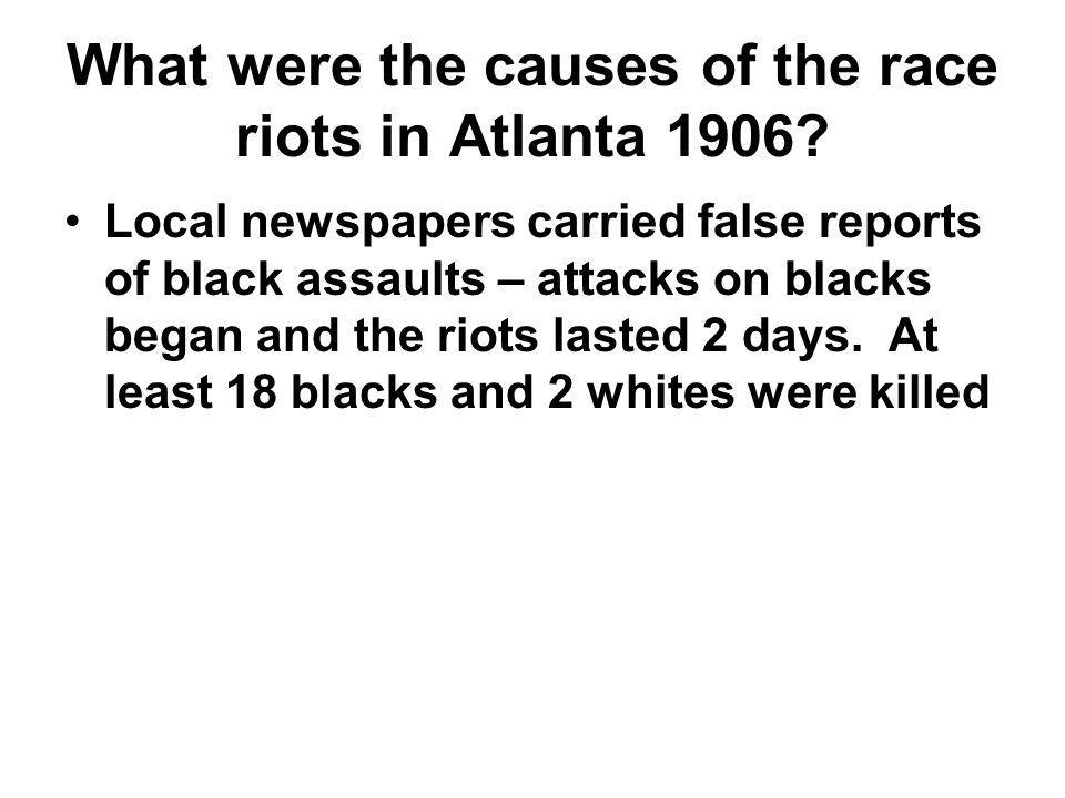 What were the causes of the race riots in Atlanta 1906