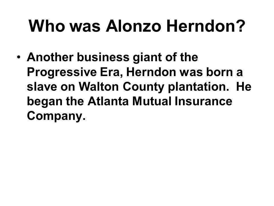 Who was Alonzo Herndon